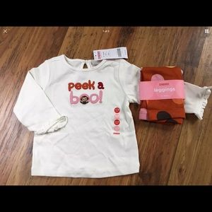 Gymboree set outfit leggings top 12-18 months NWT
